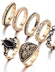 Mittelfingerring Ring Geometrisch Modisch Vintage Punkstil Kreisform Geometrische Form Golden Schmuck Für Hochzeit Party Geburtstag 1 Set