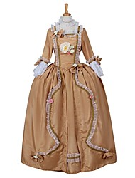Steampunk®Women's Rococo Medieval Aristocrat Ball Gown Victorian Yellow Dress