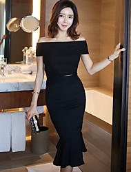 Women strapless summer new ladies Slim package hip long section flounced two-piece dress