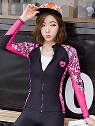 Mulheres Drysuits Mergulho Skins Resistente Raios Ultravioleta Alta Respirabilidade (>15,001g) Filtro Solar Náilon Chinês Fato de Mergulho