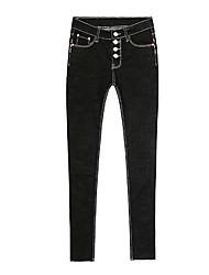 Printemps nouveau breloque à bretelles noires à taille haute pour femmes pantalons maigres à neuf pieds était mince pantalon à crayon
