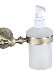 Bronze Ancient Soap Dispenser / ChromeBrass Glass /Contemporary