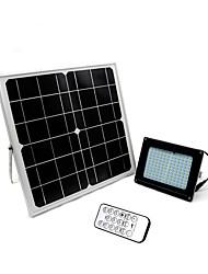 1pcs 120led solar floodlight sensor de luz de injeção luz outdoor jardim holofotes parede luz dimmable com controle remoto