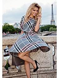 Aliexpress ebay vender 2016 Outono comércio exterior explosão modelos vestido de cintura listrada