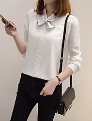 Really making 2017 spring women's college wind bow chiffon long-sleeved shirt shirt shirt was thin Korean Fan