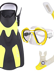 Snorkel Set Snorkeling Packages Snorkels Diving Fins Diving Masks Dry Top Diving / Snorkeling Glass Rubber silicone PU-WHALE