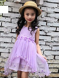 Girl's Cotton Fashionable Sweet Fairy Costumes Dance Skirt Hem Falbala Dovetail The Princess Dress
