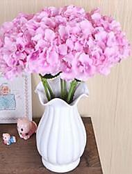 1 Une succursale Fibre Hortensias Fleur de Table Fleurs artificielles 20*20*45