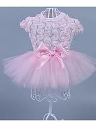 Chat Chien Robe Vêtements pour Chien Décontracté / Quotidien Mode Fleur Rose 10 12
