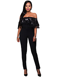 Sequin Ruffle Top Jumpsuit