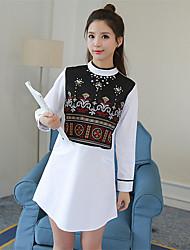 знак +2017 пружинный корейскую ручной вышивки бисером платье