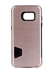 Pour Porte Carte Antichoc Coque Coque Arrière Coque Couleur Pleine Dur Polycarbonate pour Samsung S7 edge S7 S6