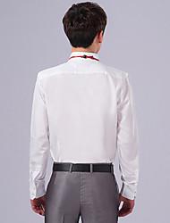 Masculino Camisa Social Trabalho Festa/Coquetel Casamento Vintage Simples Primavera Outono,Sólido Poliéster Colarinho Orifício Manga Longa