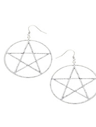 Non Stone Star Dangle Earrings Jewelry Euramerican Personalized Halloween Daily Casual Alloy 1 pair