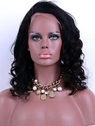 frente da classe superior do laço do cabelo humano perucas solto onda de 130% de densidade peruanas perucas cabelo sem cola laço virgens