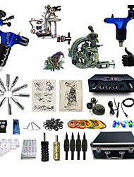 Complete Tattoo Kit 4  Machines SDragon Dual Digital LED Power Supply  Liner & Shader