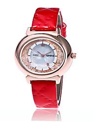 Fashion PU Geneva Watch Women Rhinestone Watches Casual Women Wristwatch Quartz Watch Relogio Feminino