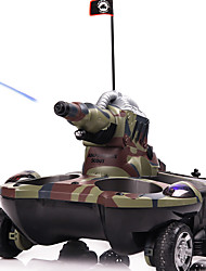 Remote Control Amphibious Tanker Four - Wheel Drive Remote Control Car Amphibious Tank Toys Boy Toys