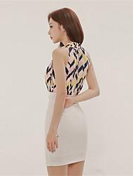 2017 modelos de verão coreano temperamento estilo leve cozido doce costura cor do vestido da cintura sexy bandagem