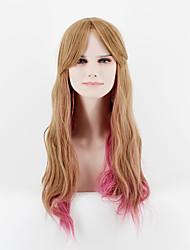 2017 Japan and South Korea fashion section long hair brown powder mixed natural song high temperature wire wig