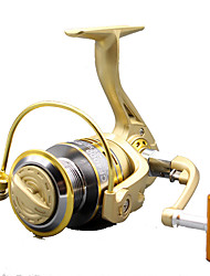 Molinetes de Pesca Molinetes Rotativos 5.2:1 10 Rolamentos Destro Pesca Geral-GF3000