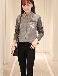 signe à manches fan coréen sauvage version coréenne de la chemise en coton rayé frais vent collège chemise étudiantes