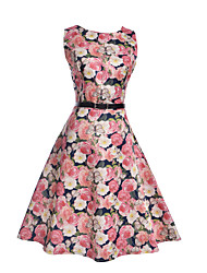 Girl's Going out Casual/Daily Holiday Print Dress,Polyester Summer Spring Sleeveless