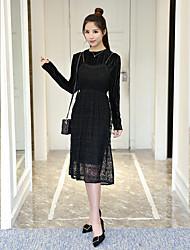 Знак обжим 2017 весна новый золотой бархат платье корейский мода кружева ремни нижняя юбка из двух частей женщин