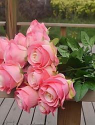 1 Une succursale Plastique Roses Fleur de Table Fleurs artificielles 10*10*70