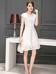 2016 signe de nouvelles femmes coréennes longue section mince mince de mode féminine robe imprimé voile eugen
