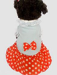 Hund T-shirt Hundekleidung Niedlich Lässig/Alltäglich Prinzessin Orange Gelb