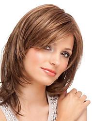 120%&130% Dichte 8-16inches geschichtete gerade brasilianische reine Menschenhaar volle Spitze Perücke für Frauen