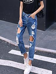 Ярмо знак свободный Б.Ф. ветер отверстие джинсы женские шаровары нищий брюки женщина колготки