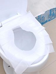 1Packs 10Pcs Travel Disposable Toilet Seat Cover Wc Mat 100% Waterproof Toilet Paper Pad Bathroom Accessories Set