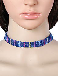 Choker Necklaces Jewelry Fabric Square Euramerican Fashion Dark Blue Jewelry Party Special Occasion Casual 1pc
