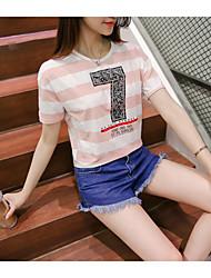 Modèle réel tir été 2017 lettres imprimé t-shirt femme court paragraphe bottoming chemise t-shirt étudiant influx