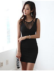 Deep V sexy ladies tight package hip nightclub Tousha skirt 2017 summer sleeveless bottoming gauze dress
