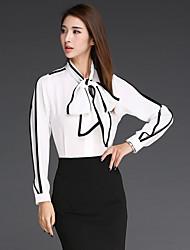 Korea Hot bow collar loose shirt was thin Korean crisp linen shirt jacket