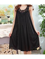 Chemises & Blouses Vêtement de nuit Femme,Rétro Solide Coton