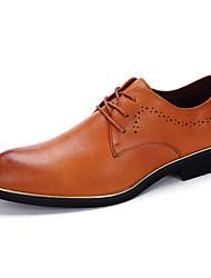 Masculino sapatos Couro Primavera Verão Outono Inverno Conforto Oxfords Caminhada Flor Para Casamento Casual Festas & Noite Preto