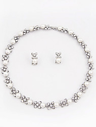 Jewelry Necklace Earrings Euramerican Fashion Party Alloy Imitation Pearl Rhinestone 1set Bridal Accessories