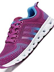 Femme-Extérieure Sport-Gris Violet Bleu-Talon Plat-Semelles Légères-Chaussures d'Athlétisme-Tulle