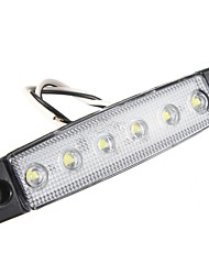 0.5W  DC24 White blue red yellow green Highlight Truck side light 6LED 2835SMD Waterproof buses trucks trailers  1pcs