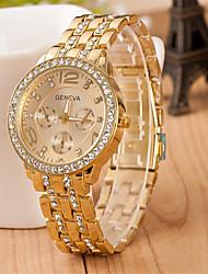 Masculino Relógio de Moda Simulado Diamante Relógio Quartzo Lega Banda Casual Prata Dourada Ouro Rose