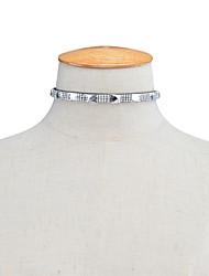 Women's Choker Necklaces Rhinestone Rhinestone Square Square Euramerican Fashion Personalized Jewelry Daily Casual 1pc