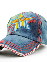 Children's Tide Cool Comfortable And Cool  Outdoor Travel Denim Affixed Cloth Embroidered  Bath Shade Baseball Cap