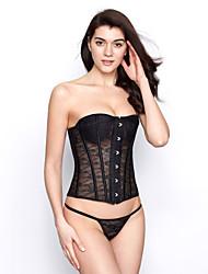 laço de plástico desossa espartilho shapewear com t-strap (mais cores) sexy lingerie shaper