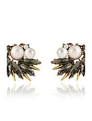 Stud Earrings Unique Design Crystal Imitation Pearl Alloy Jewelry For Party Special Occasion Daily Casual 1 pair