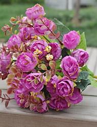 1 Ast Kunststoff Rosen Tisch-Blumen Künstliche Blumen 25*25*30