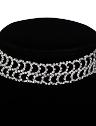 Necklace Crystal Choker Necklaces Jewelry Wedding Party Birthday Engagement Basic Design Tattoo Style Sexy Fashion Crystal Alloy 1pc Gift